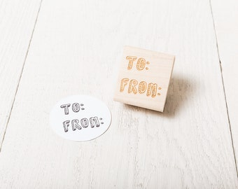 To and From - Rubber Stamp