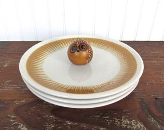 Set of 3 Paul Mccobb Radiate Dinner Plates, Jackson China Dinner Plates