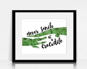 Never Smile at a Crocodile / Peter Pan - Lyrics Wall Art - Digital Instant Download