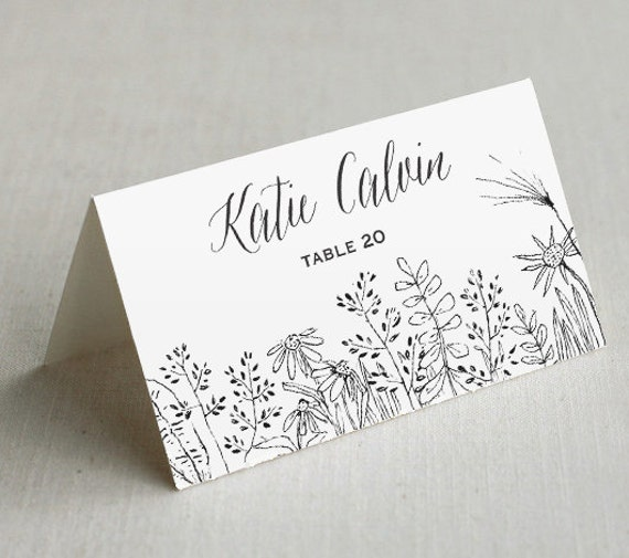 printable wedding place cards custom by enchantedprintables