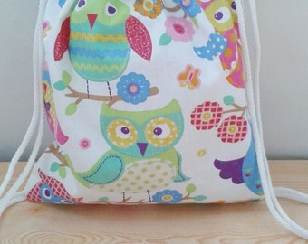 Owls backpack,children backpack, kids backpack,children bag, baby bag, kawaii bag, school bag,lunch bag,clothes baby bag, owls bag
