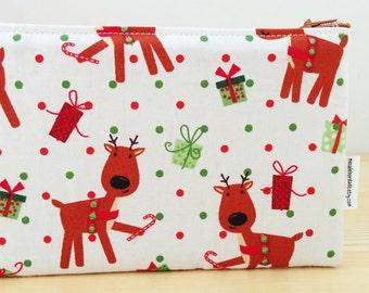 Children pencilcase, fabric pencil case, animal pencil case, kids pouch, kids pencil, school pencil case, deer pencil case, kids bag
