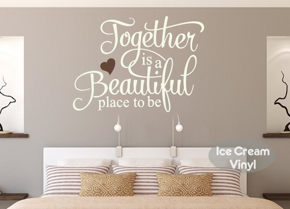 Family Wall Decal Together Is A Beautiful Place To Be Bedroom Vinyl Home Decor Art Kitchen Lettering