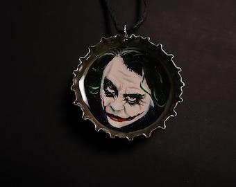 The Joker | Hand Painted Bottle Cap Necklace