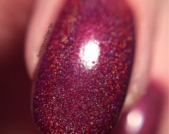 Berry Smoothie - hand mixed holographic UK indie nail polish by Flash Nails