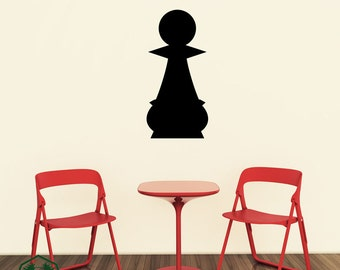 Pawn Chess Piece Wall Decor Decal