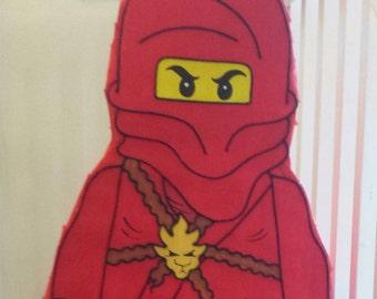Amazing Red Block Ninja guy pinata   !!!!