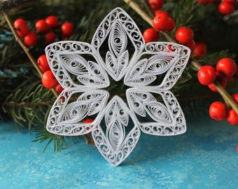 ASPEN snowflake - Paper quilled ornament - Christmas decoration - Handmade gift