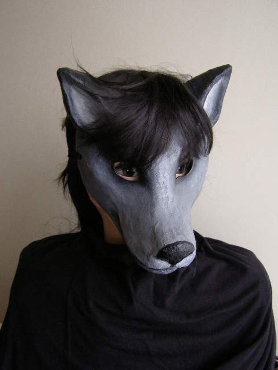 animaux papier mache masque loup masque costume de par epicfantasy. Black Bedroom Furniture Sets. Home Design Ideas