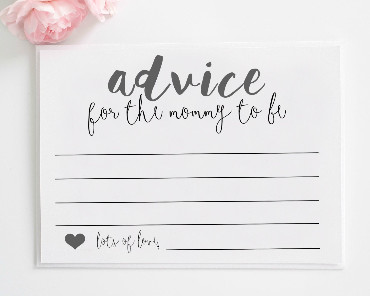 Sizzling image for mommy advice cards printable