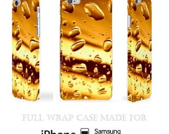 Gold iPhone 6 Case Full Wrap iPhone 5 Case Bubbles 3D iPhone 5c Case Original iPhone 5s Case Shiny iPod Case Awesome Samsung S5 Case Sparkly