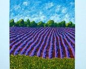 "Sunflowers and Lavender In Provence (ORIGINAL ACRYLIC PAINTING) 5"" x 7"" by Mike Kraus"