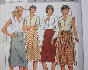 UNCUT Style 4046  Misses Skirts - 1980's Fashion