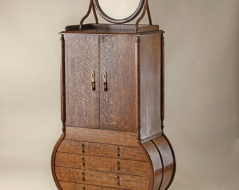 Jewelry Armoire with Mirror, by Chuckswoodbarn.com