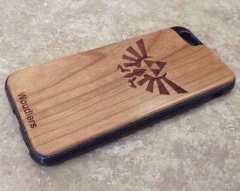 Wooden iPhone Case - Zelda Triforce - Zelda iPhone Case - iPhone 6 and iPhone 6s - iPhone 5/5s, 5c and iPhone 6 Plus - Free Shipping