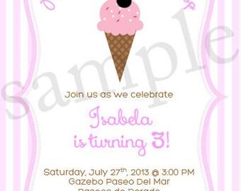 Minnie's Ice Cream Shop Collection PRINTABLE Invitation