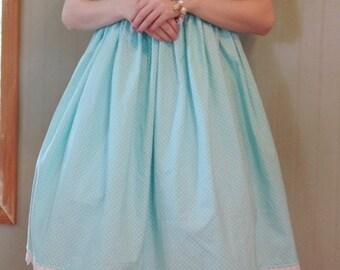 Aqua polka dot Lolita Dress (SALE!)