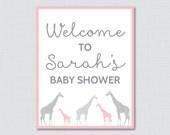 Giraffe Baby Shower Welco...