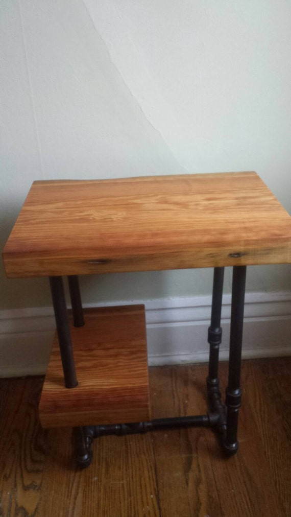 industrial pipe nightstand items similar to reclaimed wood and industrial pipe side 964