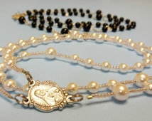 Catholic Wedding Rosary Set, Bride and Groom Catholic Gift, Handmade Catholic Wedding Chaplet, His/Her Wedding Gift, Anniversary Gift