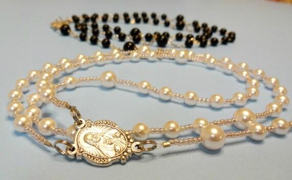 Catholic Wedding Gift For Groom : similar to Catholic Wedding Rosary Set, Bride and Groom Catholic Gift ...