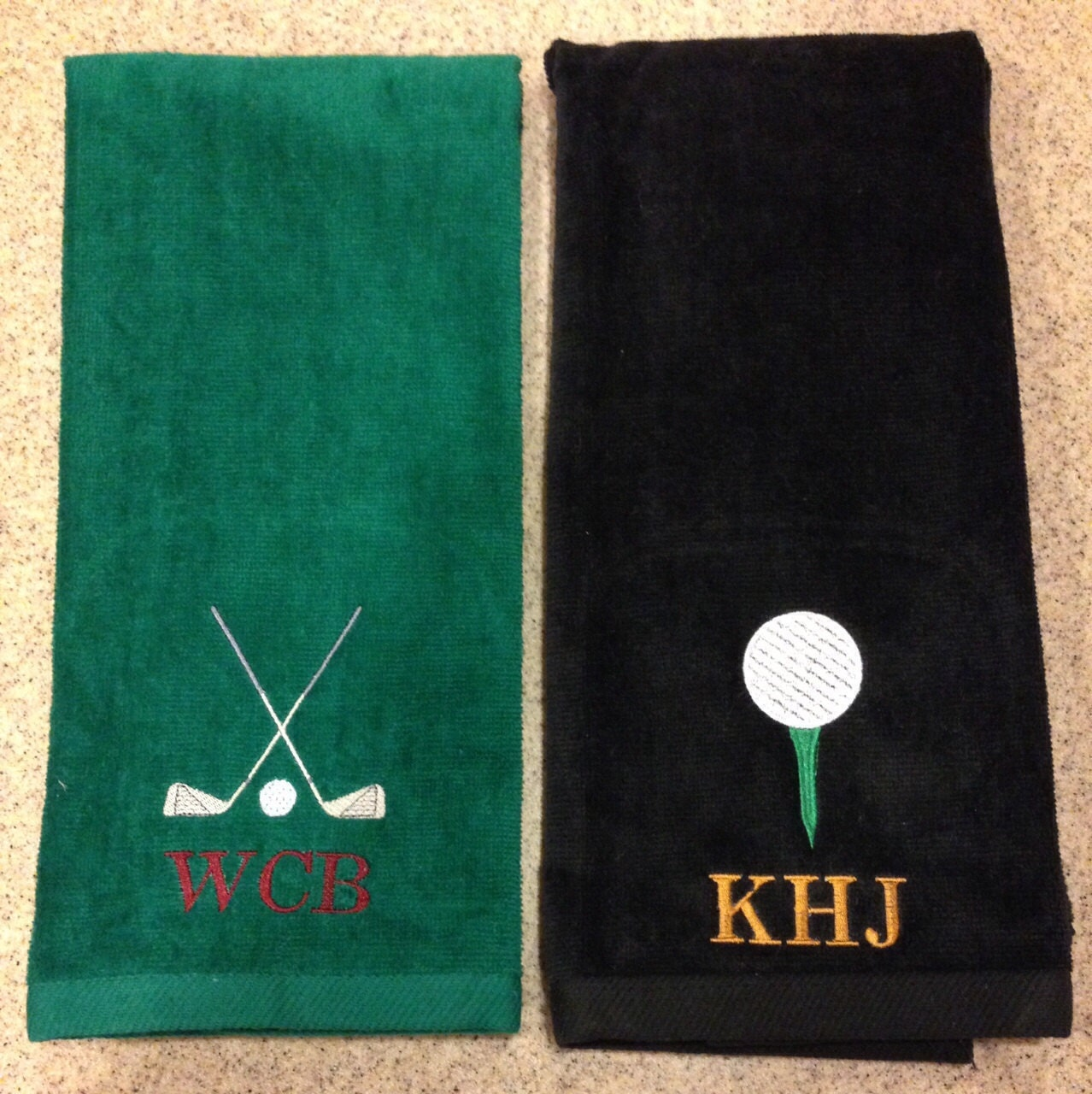 SALE Monogrammed Personalized Golf Towel By