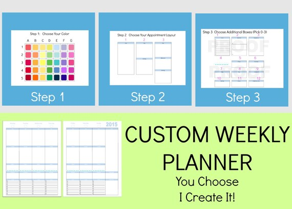 Items Similar To Make Your Own Day Planner Daily Planner