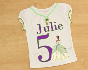 Tiana Shirt, Princess Shirt, Princess Tiana Shirt, Princess and the Frog Outfit, Tiana personalized Shirt, Princess Tiana Personalized Shirt