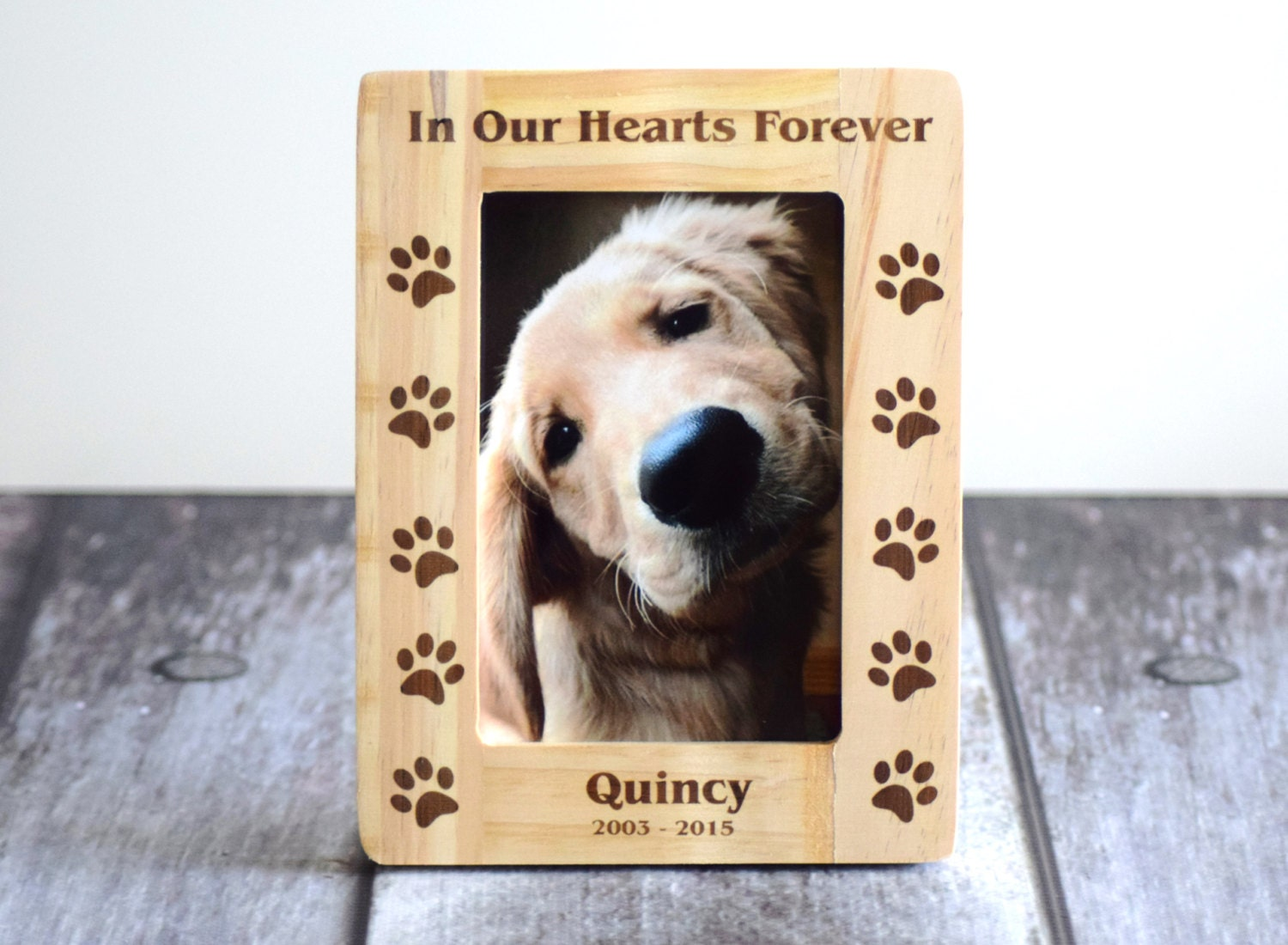 Pet Memorial Frame Dog Picture Frame Wooden By