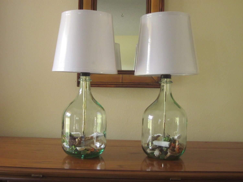 Lot de 2 lampes de table lampes de chevet lampes de chambre for Verre pour lampe de chevet