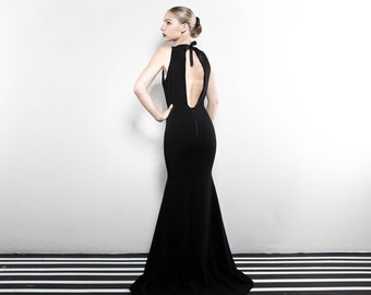 The Black Lotus Evening Gown