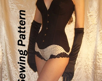 CORSET SEWING PATERN Waist-Training Corset Pattern Bullet Bra  Burlesque   Full Instructions!