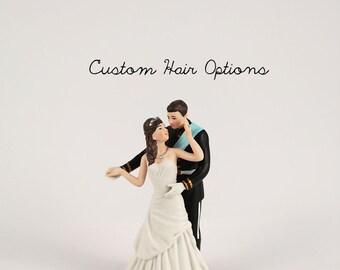 Prince And Princess Wedding Cake Topper - Royalty - Royal Wedding Cake Topper - Custom Wedding Cake Topper - Bride and Groom - Weddings