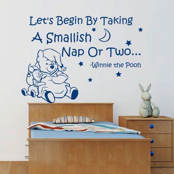 Winnie The Pooh Wall Quotes: Winnie The Pooh Wall Decals Quote Piglet Stars Moon Interior
