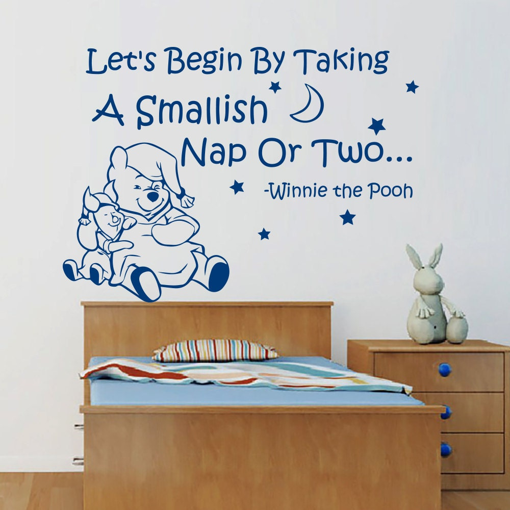 Let's Begin by Taking a Smallish Nap Winnie the Pooh Wall Decal by WallDecalswithLove