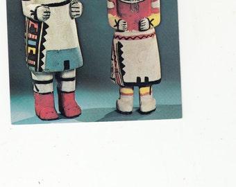 Indian Native American Hopi Dolls Kachina Old Vintage Postcard