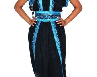 Moroccan Playsuit Kaftan/Caftan Party wear with Rope Embroidery Ideal Beach cover up, Lounge wear, Maternity  BodySuit CatSuit Onesie