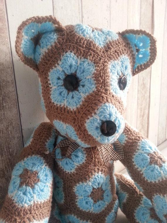 Crochet Amigurumi African Flower : Handmade crochet toys Teddy Bear African Flower Amigurumi
