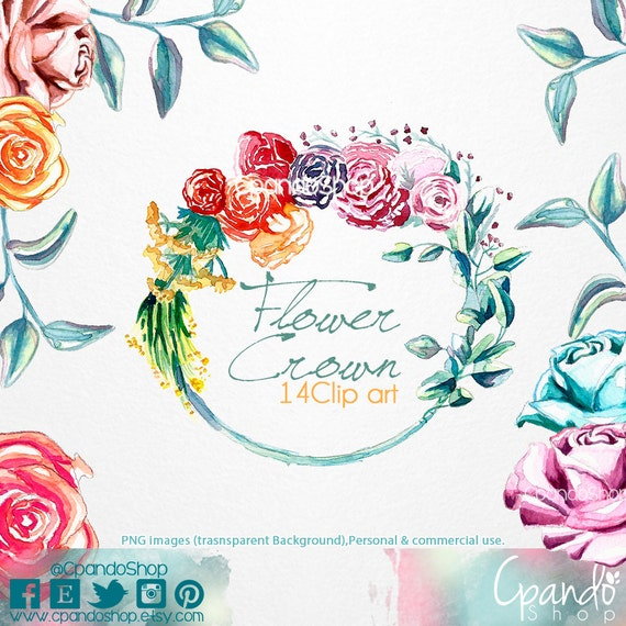 Flower crown 14 png images with transparent by CpandoShop on Etsy