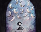 Many Wondrous Moons (print of my original painting)