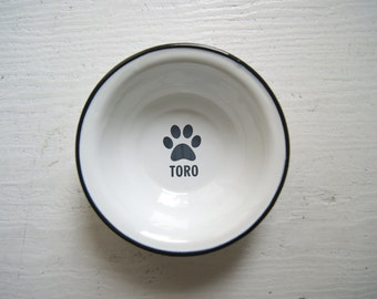 Personalized Dog Bowl, ENGRAVED Pet Bowl, Dog bowl pottery, Metal Dog Dish, Personalized Pet Dish, Custom Dog Bowl, Bowl with Name, Dog Name