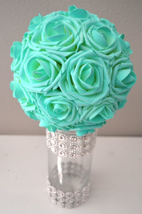 MINT Aqua Robins Egg Blue Real Touch Roses flower by  : il570xN751127508olue from etsy.com size 570 x 855 jpeg 81kB