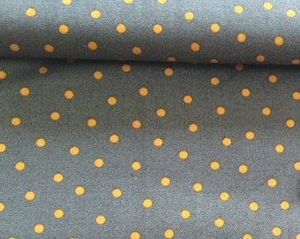 Rooftop Garden by Moda Steel & Goldenrod Yardage Fabric Grey Gray Orange