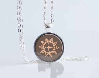 Sun Star Mandala Peace Calm Art Pendant Meditation Jewelry Yoga Necklace Namaste