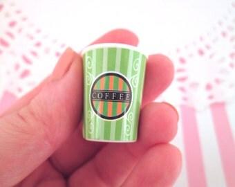 Miniature Green Coffee Cups