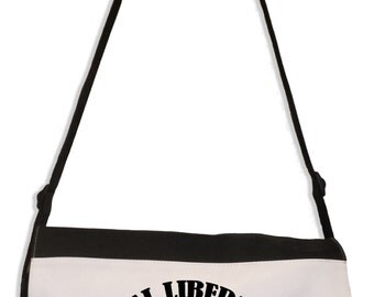 Animal Liberation, Human Liberation, Vegetarian Laptop Messenger Bag