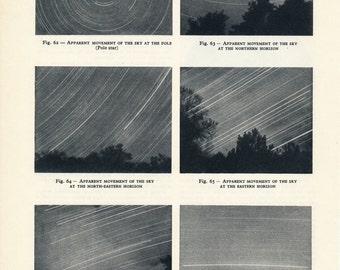 1959 Star Trails Vintage Astronomy Print