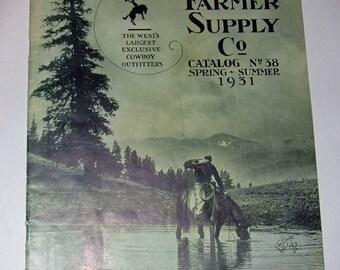 Genuine Vintage 1931 Stockman-Farmer Cowboy Catalogue -- Free Shipping