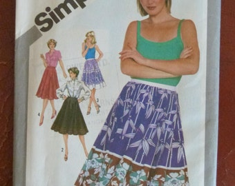 1980s Simplicity 5090 Full and Half-Circle Skirt Sewing Pattern - Size 16