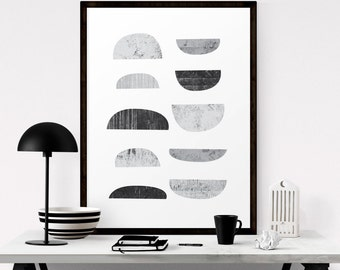 Printable Wall Art, Boho Decor, Scandinavian Print, Abstract Art, Black And White Art, Geometric Art, Scandinavian Art, Digital Download